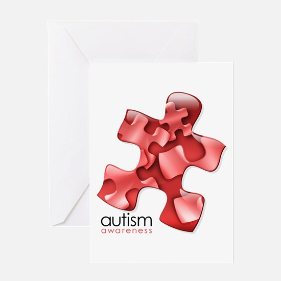 PuzzlesPuzzle (Red) Greeting Card
