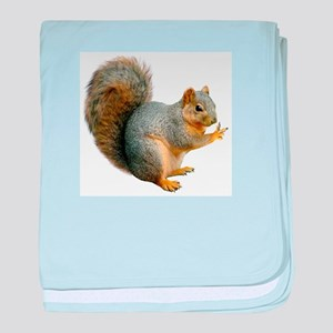 Peace Squirrel baby blanket