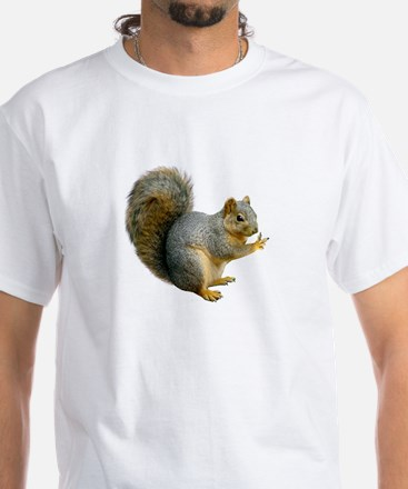 Peace Squirrel White T-Shirt