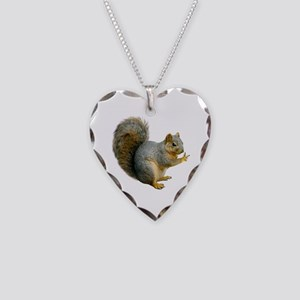 Peace Squirrel Necklace Heart Charm