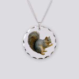 Peace Squirrel Necklace Circle Charm