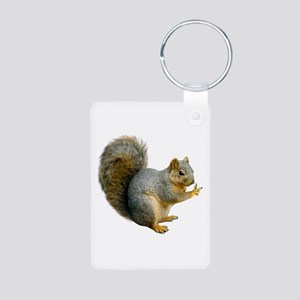 Peace Squirrel Aluminum Photo Keychain