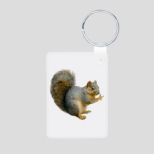 Peace Squirrel Aluminum Photo Keychain