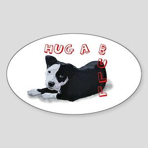 Hug-A-Bull Sticker (Oval)