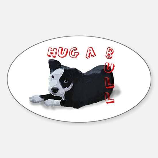 Hug-A-Bull Sticker (Oval)