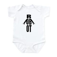 Typographic Robot Infant Bodysuit