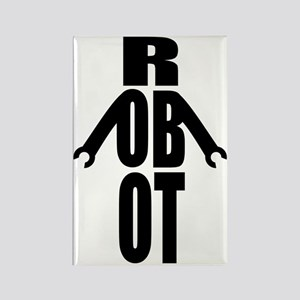 Typographic Robot Rectangle Magnet