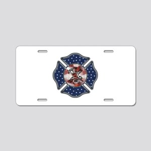 Firefighter USA Aluminum License Plate