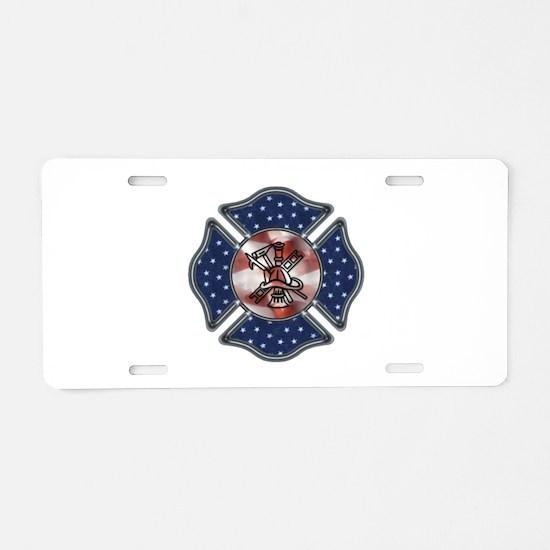 Firefighter USA Aluminum License Plate