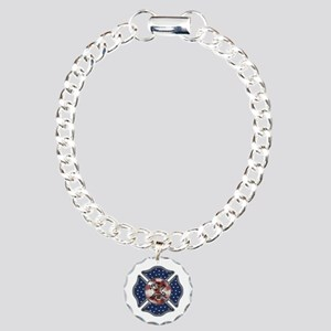 Firefighter USA Charm Bracelet, One Charm