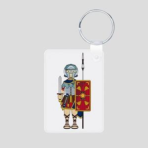 Ancient Roman Soldier Aluminum Keychain