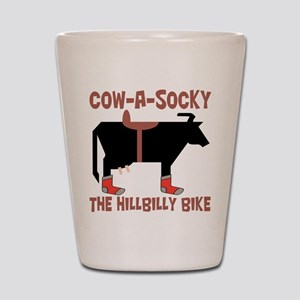 Cow A Socky Hillbilly Bike Shot Glass