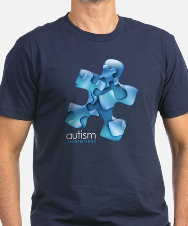 PuzzlesPuzzle (Blue) Men's Fitted T-Shirt (dark)