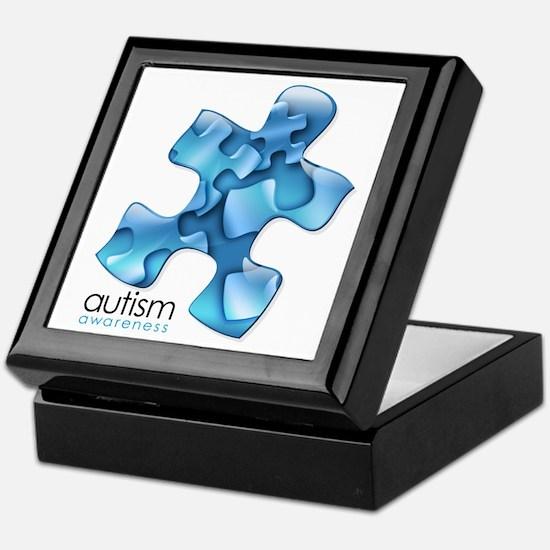 PuzzlesPuzzle (Blue) Keepsake Box