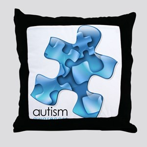 PuzzlesPuzzle (Blue) Throw Pillow