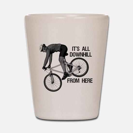 Downhill Mountain Biker Shot Glass