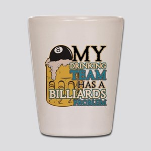 Billiards Drinking Team Shot Glass