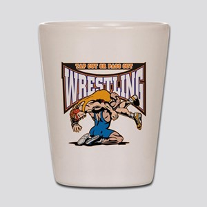 Tap Out or Pass Out Wrestling Shot Glass