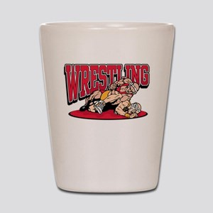 Wrestling Takedown Shot Glass