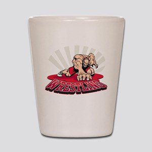 Wrestling! Shot Glass