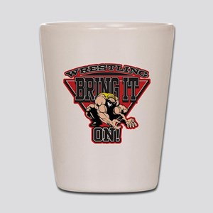 Wrestling Bring It On Shot Glass
