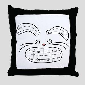Bunny Brace Throw Pillow