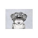 Tibetan Terrier 5'x7'Area Rug