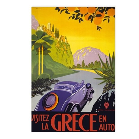 Vintage Greece Travel Postcards (Package of 8)
