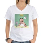 Face Cream with Highly Moro Women's V-Neck T-Shirt