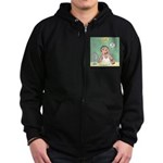 Face Cream with Highly Moronic A Zip Hoodie (dark)
