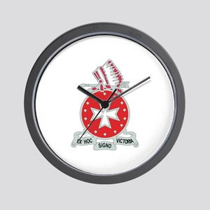 DUI - 1st Bn - 14th FA Regt with Text Wall Clock