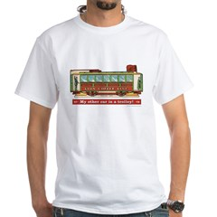 Trolley Car White T-Shirt