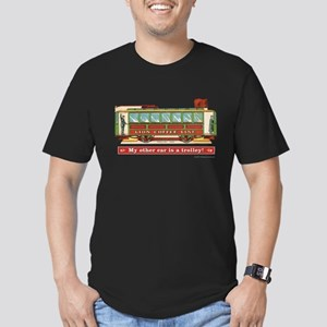 Trolley Car Men's Fitted T-Shirt (dark)
