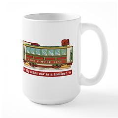 Trolley Car Large Mug