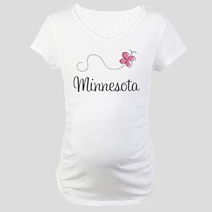 Minnesota Pink Butterfly Maternity T-Shirt
