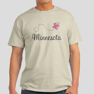 Minnesota Pink Butterfly Light T-Shirt