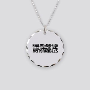 Real Women Ride Necklace Circle Charm