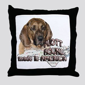 American Plott Hound Throw Pillow