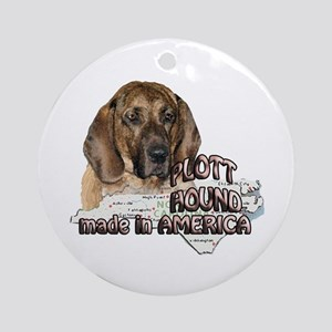American Plott Hound Ornament (Round)