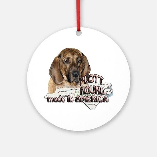 American Plott Hound Ornament (Round)