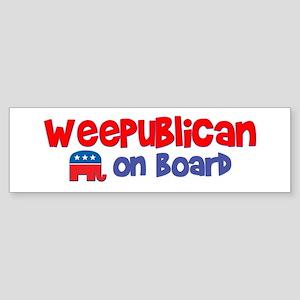 WeePublican on Board Bumper Sticker