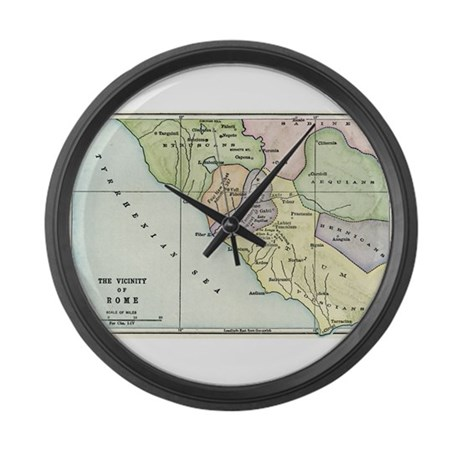 Ancient Rome and Environs (co Large Wall Clock