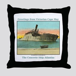 Concrete Ship Throw Pillow