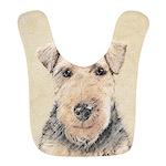 Welsh Terrier Polyester Baby Bib
