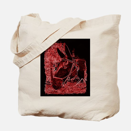 Red Mule Tote Bag