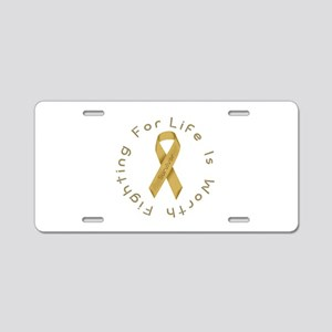 Gold Ribbon - Survivor Aluminum License Plate