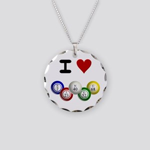 I LUV BINGO Necklace Circle Charm