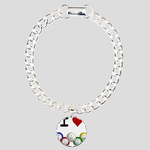 I LUV BINGO Charm Bracelet, One Charm