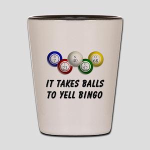 Balls to Bingo Shot Glass