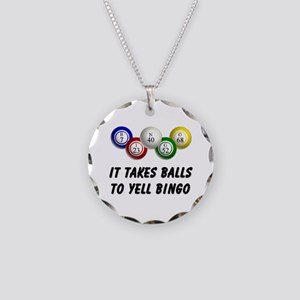 Balls to Bingo Necklace Circle Charm
